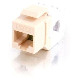 C2G 180° Cat6 RJ45 UTP Keystone Jack - Ivory