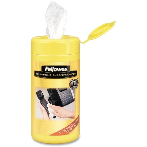 Fellowes Telephone Cleaning Wipes - 100 Pack