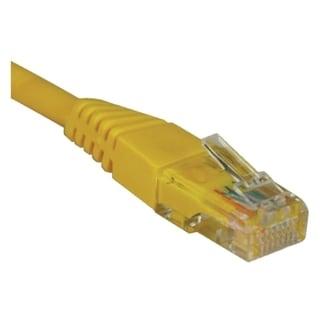 Tripp Lite 1ft Cat5e / Cat5 350MHz Molded Patch Cable RJ45 M/M Yellow