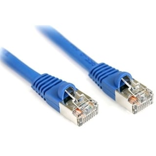 StarTech.com 25 ft Cat5e Blue Snagless Shielded RJ45 F/UTP Cat 5e Pat