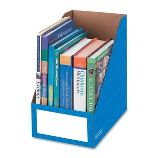 Bankers Box 8-inch Blue Magazine File Box (Pack of 3)