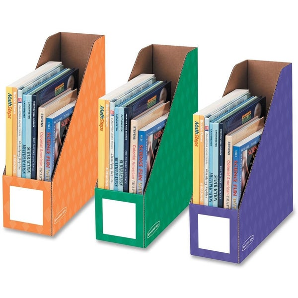 4-inch Magazine File Secondary Colors (Pack of 3)