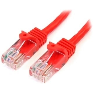 StarTech.com 25 ft Red Snagless Cat5e UTP Patch Cable