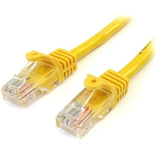 StarTech.com 3 ft Yellow Snagless Cat5e UTP Patch Cable