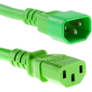 Unirise 10ft Power Cord C13-C14 Green