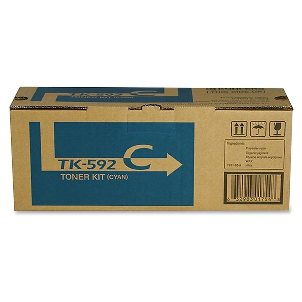 Kyocera TK-592C Toner Cartridge - Cyan