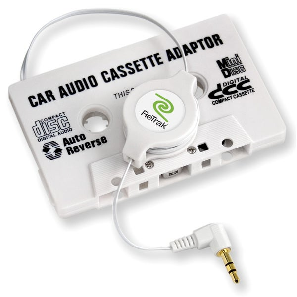 Retractable Stereo Cassette Adapter
