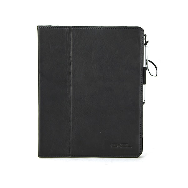 Exel Colombian Leather iPad Case with Tethered Stylus