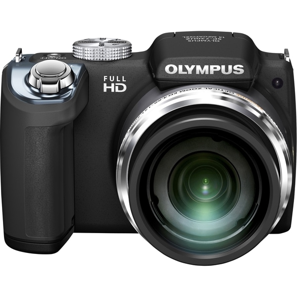 Olympus SP-720UZ iHS 14 Megapixel Compact Camera - Black