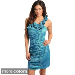 Stanzino Women's Ruched One-shoulder Cocktail Dress