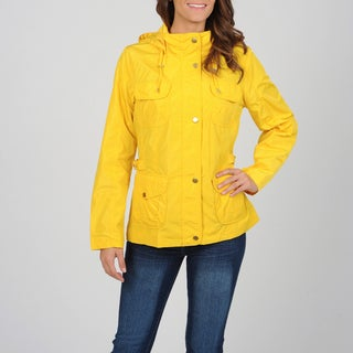 Utex Women's Yellow Water-resistant Hooded Jacket