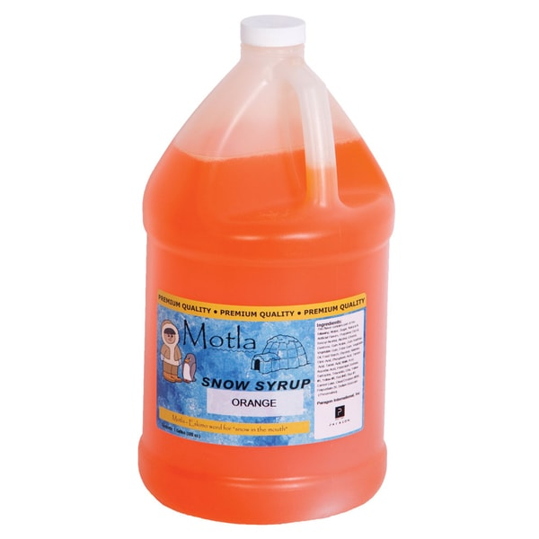 Motla Orange Snow Cone Syrup (1 Gallon)