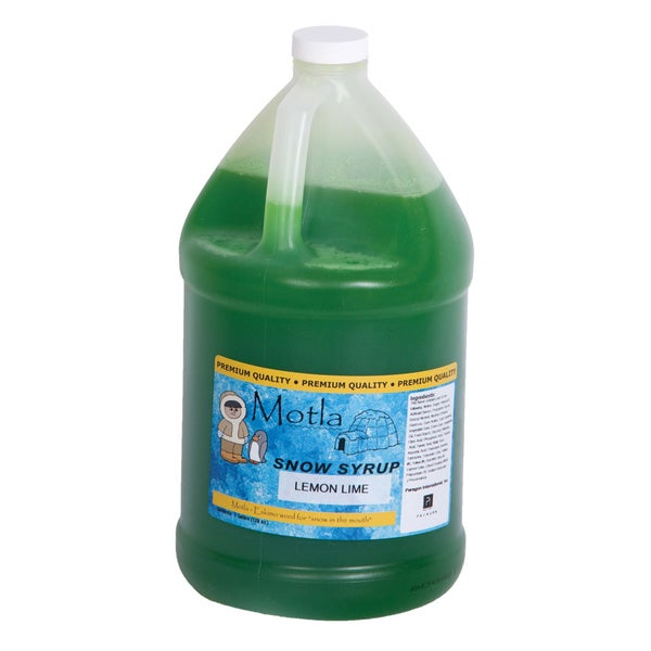 Motla Lemon Lime Snow Cone Syrup (1 gallon)