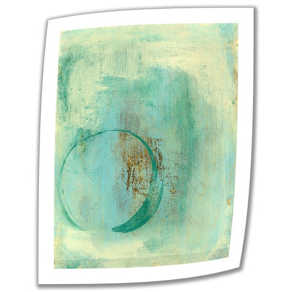 Elena Ray 'Teal Enso' Unwrapped Canvas 10745029