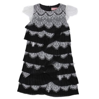 Paulinie Collection Eyelash Lace Dress