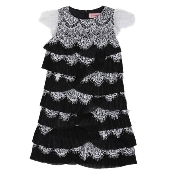 Paulinie Collection Eyelash Lace Dress
