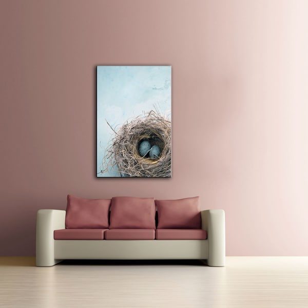 Elena Ray 'Blue Nest' Unwrapped Canvas 10745126
