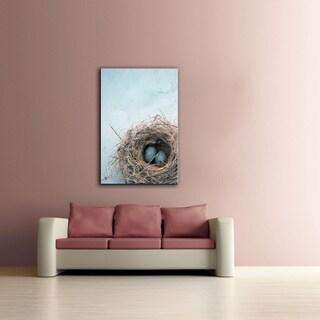 Elena Ray 'Blue Nest' Unwrapped Canvas
