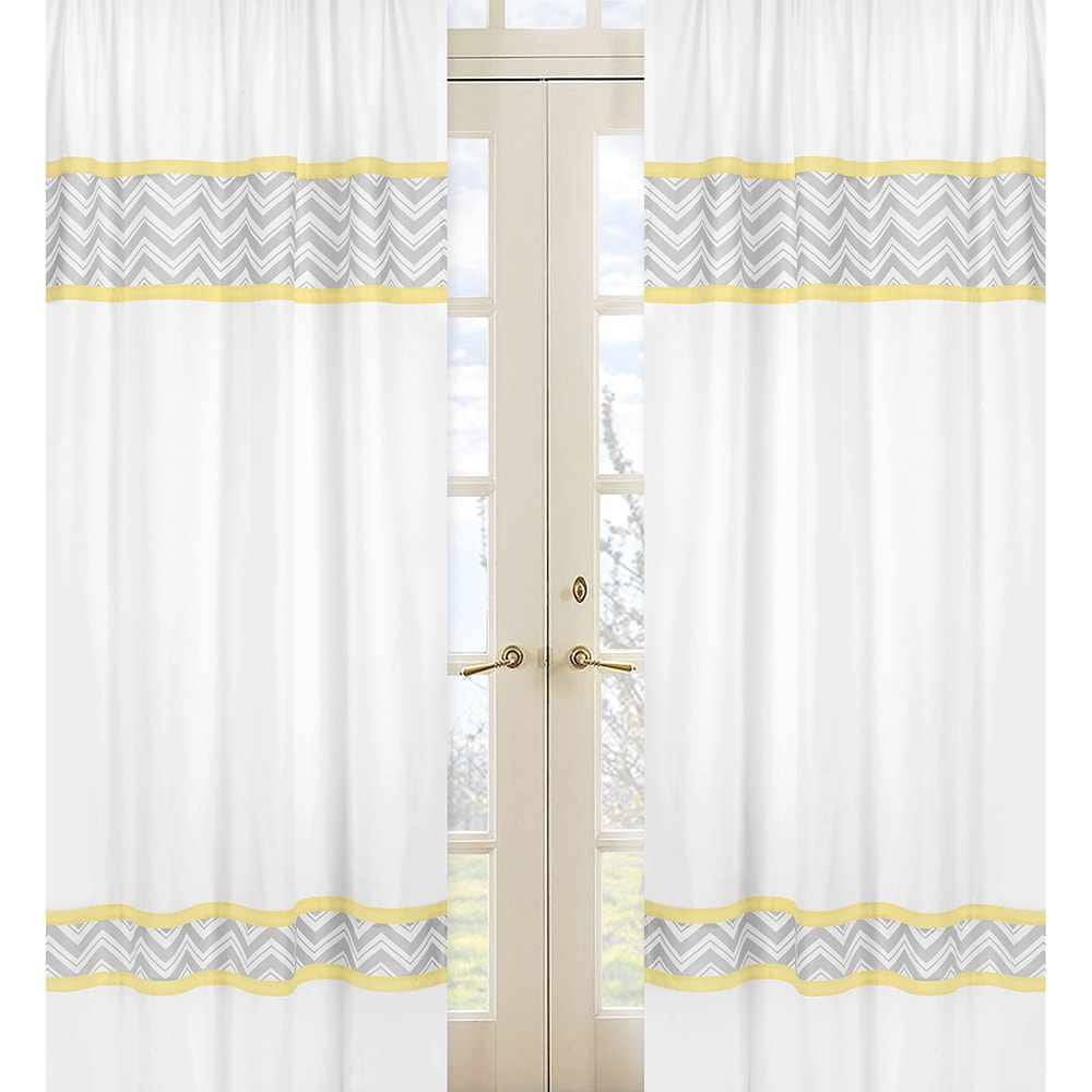 Yellow and grey curtain panels yellow and grey zig zag 84