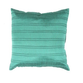 Contemporary Green/ Blue Square 18-inch Decorative Pillow