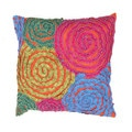 Contemporary Muliti Color Textired 18-inch Decorative Pillow