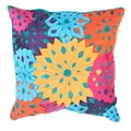 Contemporary Muliti Color Laser Cut Flower Square 18-inch Decorative Pillow