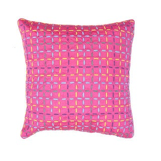 Contemporary Pink Square 18-inch Decorative Pillow