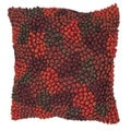 Contemporary Red/Orange Square 18-Inch Decorative Throw Pillow