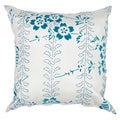 18-inch Square Blue Contemporary Decorative Pillow