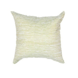 Contemporary Green Square Pillow