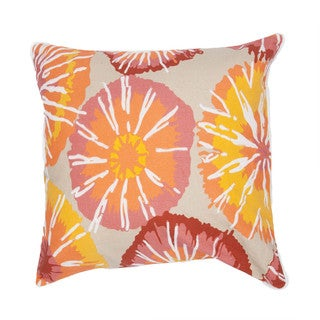 Contemporary Duck Canvas Pink/ Red 18-inch Decorative Pillow