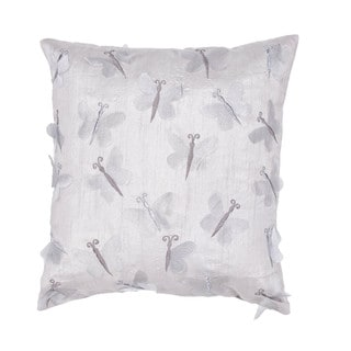 Contemporary Gray/ Ivory Square 18-inch Pillow