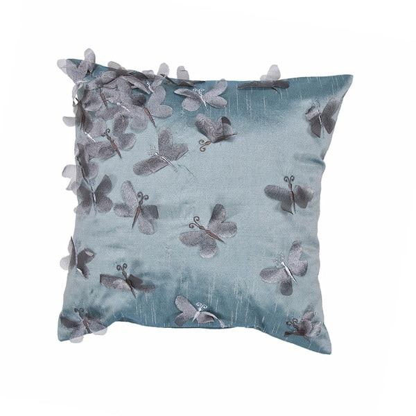 Contemporary Blue Square 18-inch Pillow