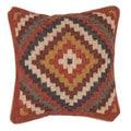 Traditional Wool/ Jute Muliti Color Square 18-inch Pillow