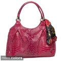 Vecceli Italy Alligator Embossed Shoulder Bag