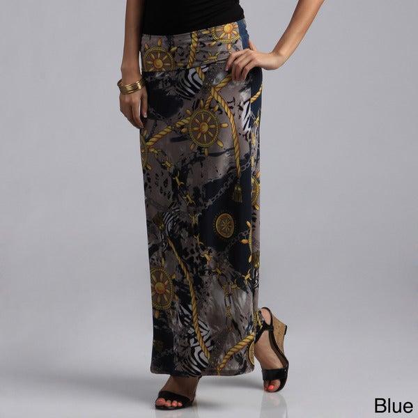 Tabeez Sailor Print Mermaid Jersey Skirt