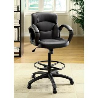 Furniture of America Dean Ergonomic Home Office Chair, Black