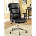Furniture of America Classic Black High-back Leatherette Adjustable Office Chair