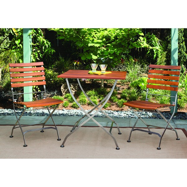 Phat Tommy Galleria Square Table w/ Galleria Folding Chairs