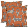 Bella Linen Leopard Print Throw Pillows (Set of 2)