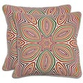 Villa Linen Multicolor Throw Pillows (Set of 2)