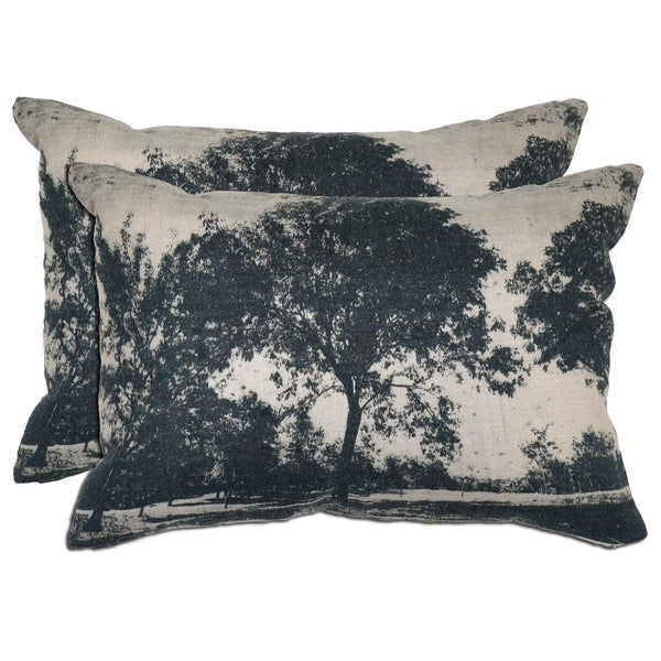 Kosas Home Bella Cotton/ Linen Tree Print Throw Pillows (Set of 2)