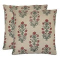 Bella Printed Plants Linen l Throw Pillows (Set of 2)