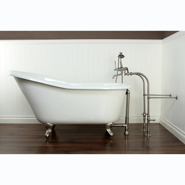 slipper cast iron 60 inch clawfoot bathtub 15179237
