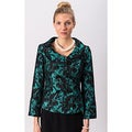 Grace Gallo New York Women's 'Audrey' Green Printed Fitted Jacket