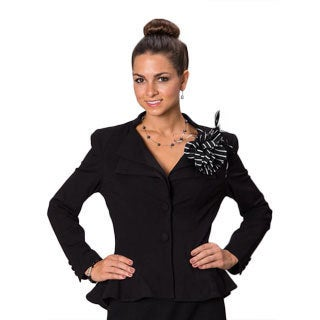 Grace Gallo New York Women's 'Kaylee' Black Structured Evening Jacket