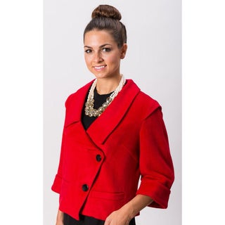 Grace Gallo New York Women's 'Isabella' Red Fitted Blazer
