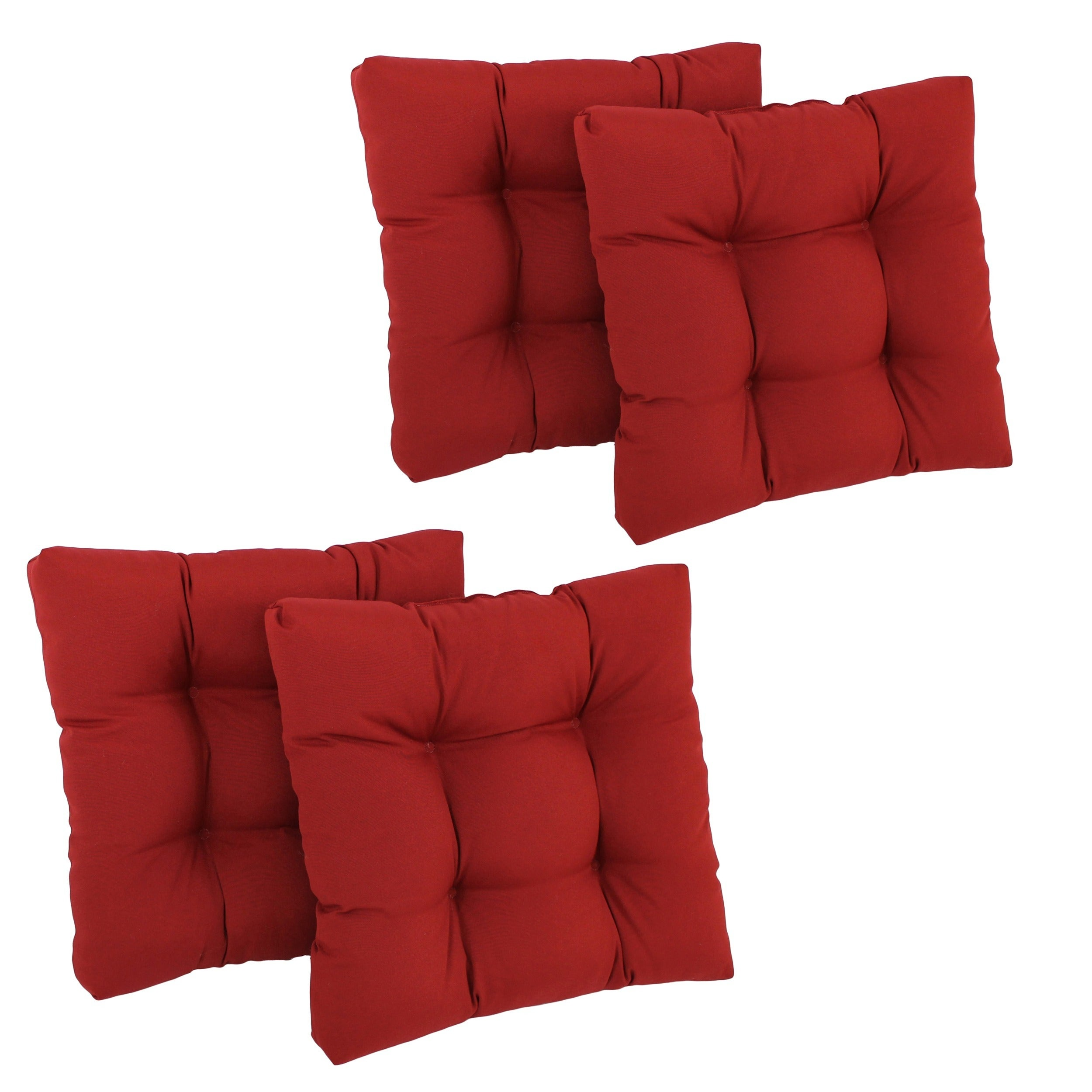 Blazing Needles 19x19-inch Tufted Chair Cushions (Set of 4) at Sears.com