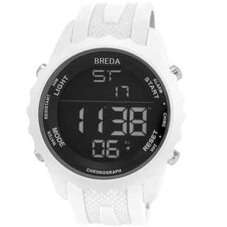 Breda Men's 'Mason' White Digital Sport Watch