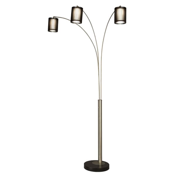 nova lighting willow 3 light arc floor lamp. Black Bedroom Furniture Sets. Home Design Ideas